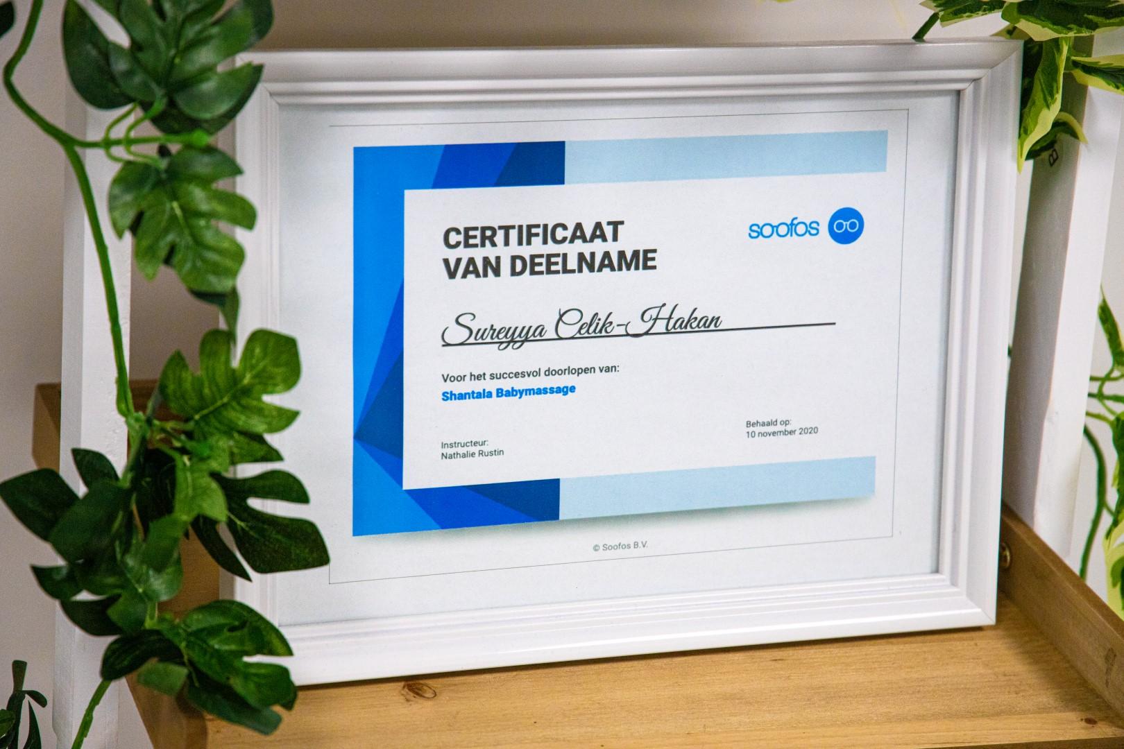dreams baby spa & massage water dreamsbabyspa wellness certificaat diploma