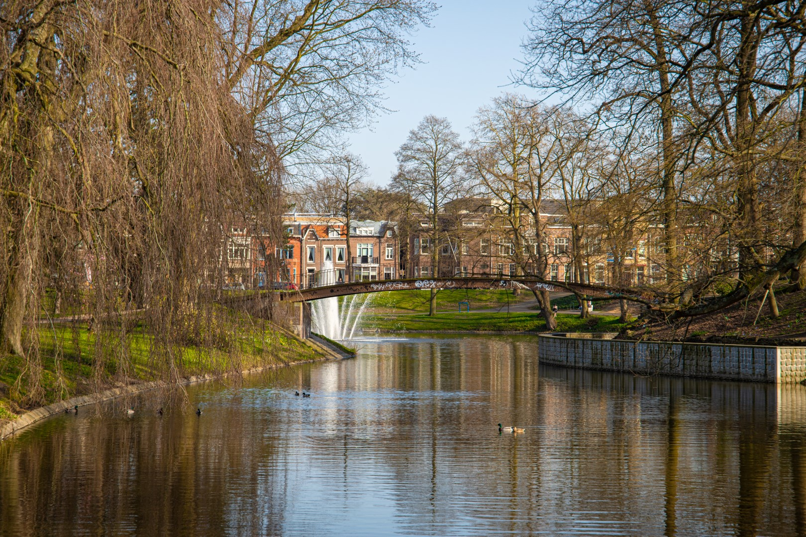 vacatures in Bergen op Zoom Anton van Duinkerkenpark park water meer meertje groen natuur anton van duinkerken brug bloemen lente bloem