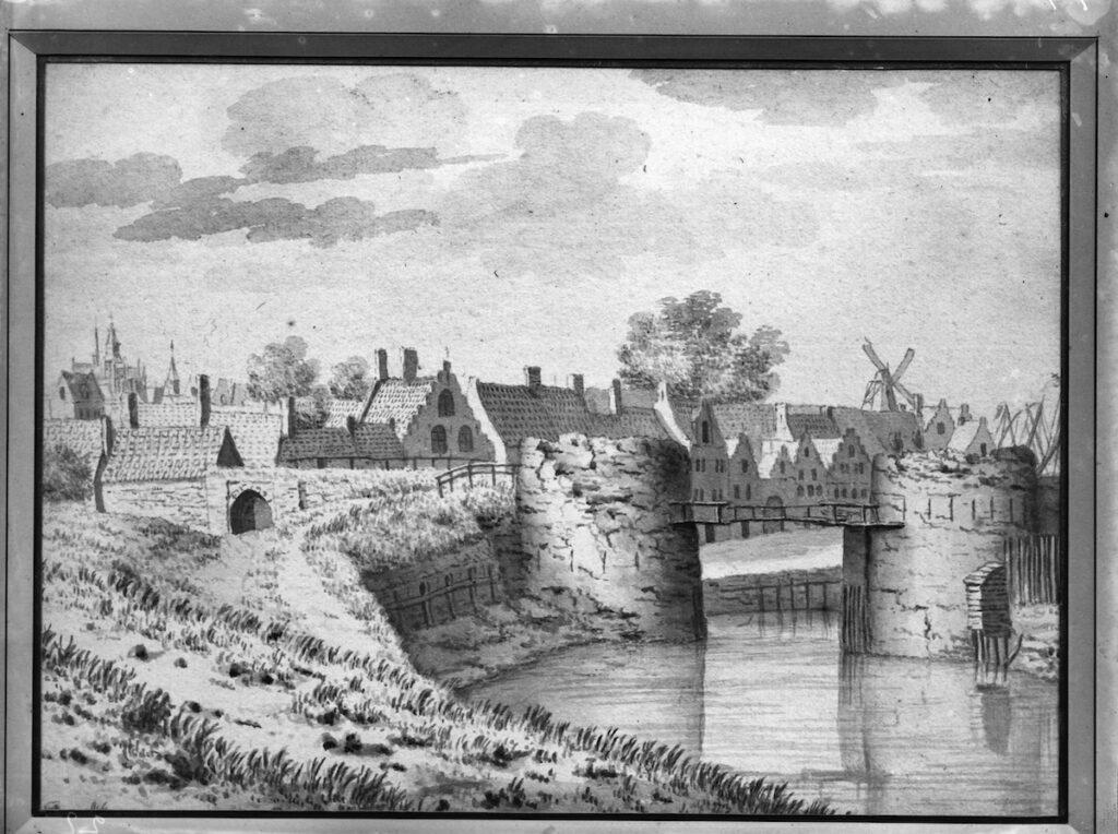 waterpoort muur brug water torens