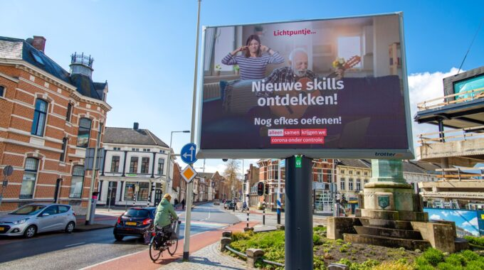 vacatures bergen op zoom reclame reclamebord bredasestraat lichtpuntje overheid corona nieuwe skills ontdekken