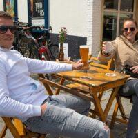 grote markt terras terrassen prins heerlijk horeca bier drank