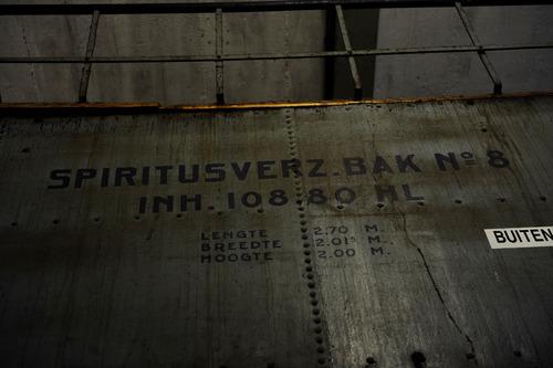 Bergen op Zoom: spiritusfabriek Nedalco, interieur fabrieksgebouw