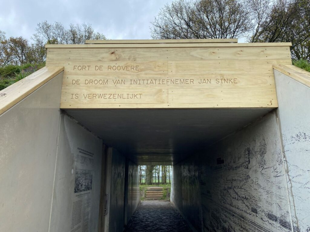 Zeefdrukgravure Fort de Roovere Jan Sinke
