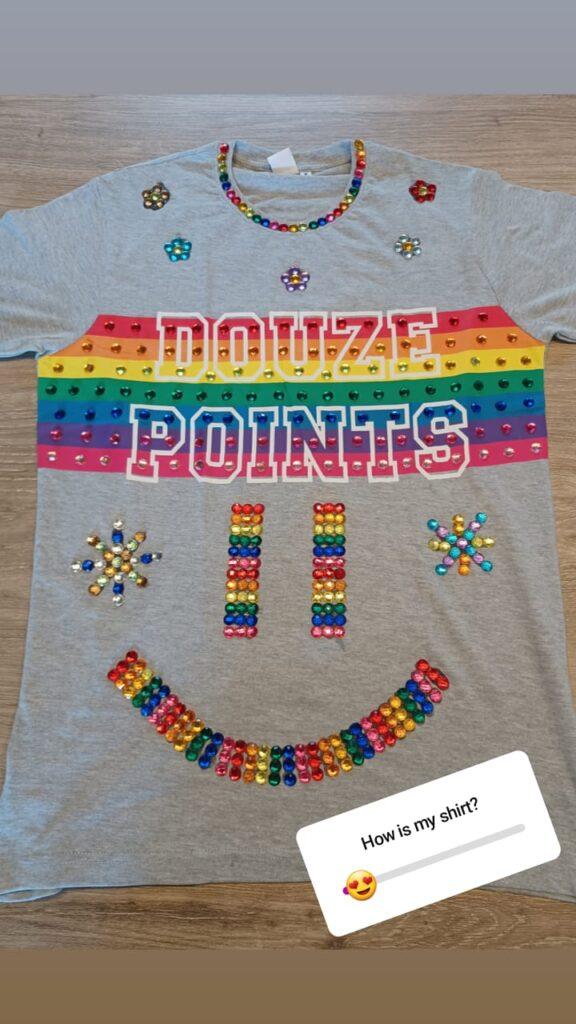Rick Trommelen zijn T-shirt voor Songfestival