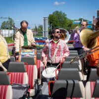 mayday jazz jazzband band muziek jazz muzikanten jazzboz jazzbozz on tour bus