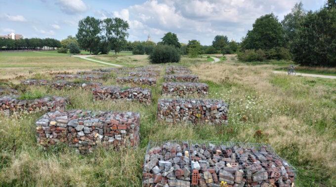 wig puin korven stenen kijk in de pot menno van coehoorn verdedigingswerk kunstwerk stadspark