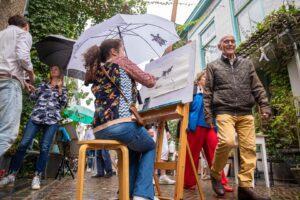 brocante montmartre engelsestraat cursisten schilderen tekenen workshop kunst