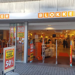 leegverkoop Blokker