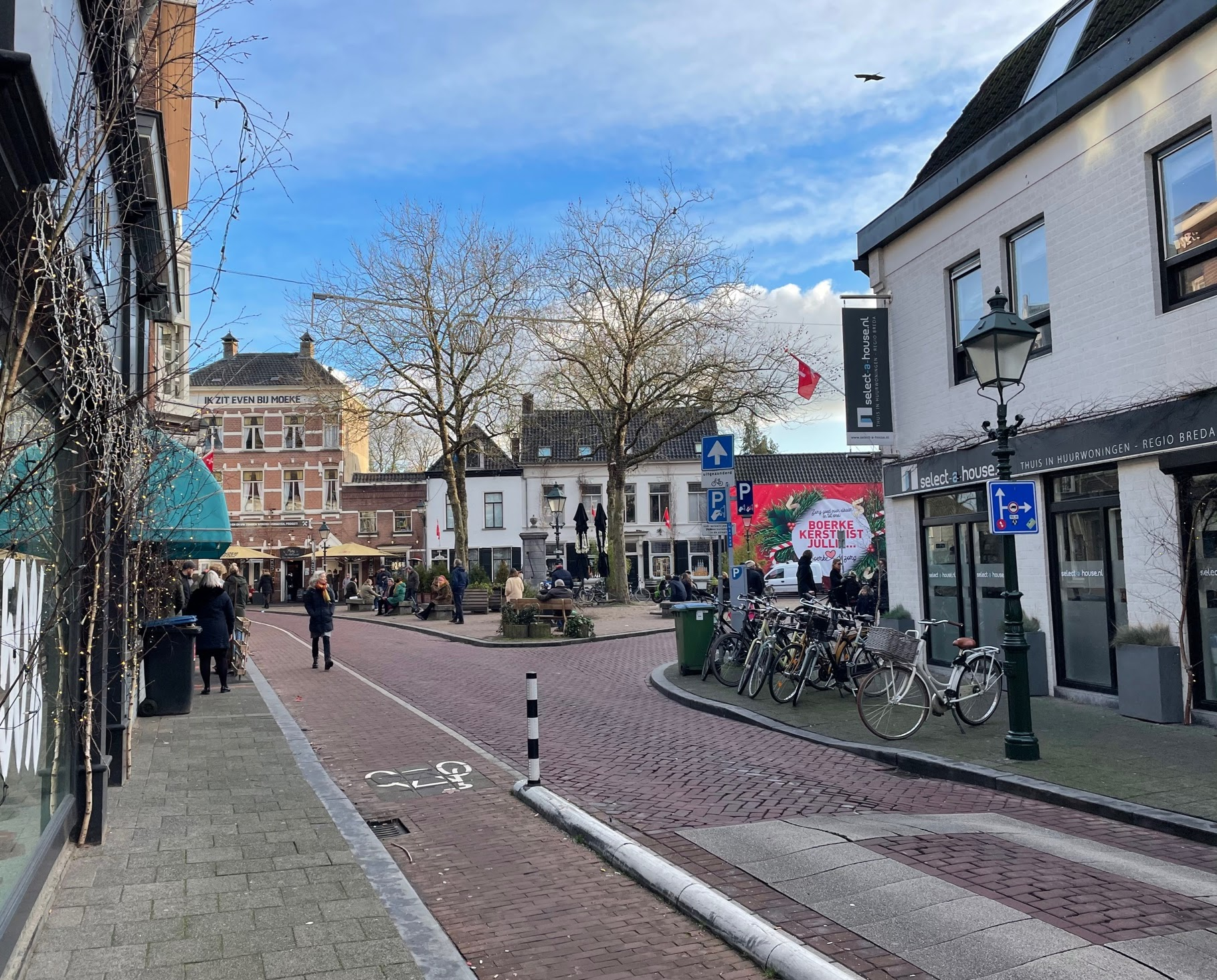 ginnekenmarkt in januari