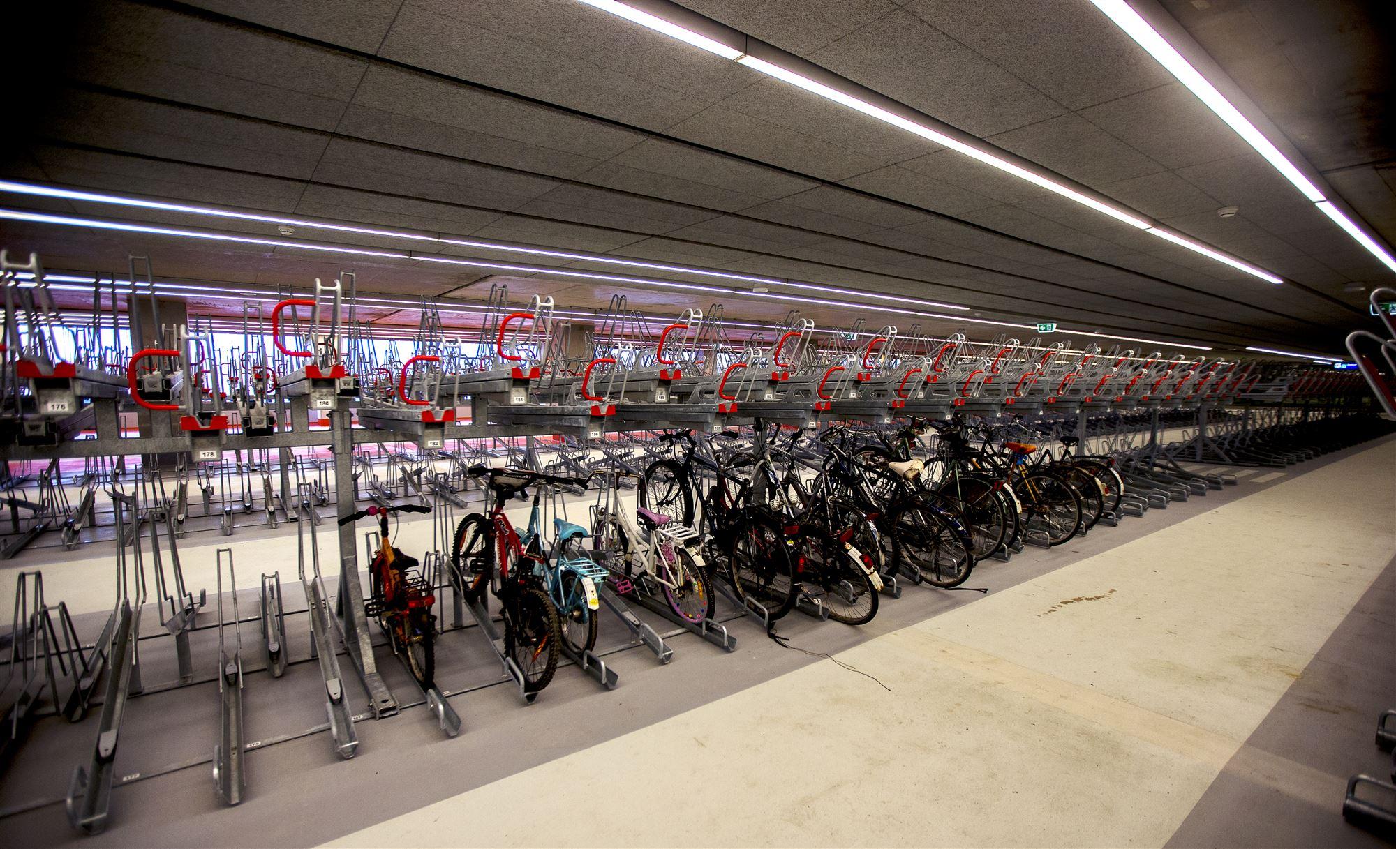 Fietsenstalling station Delft opruimactie