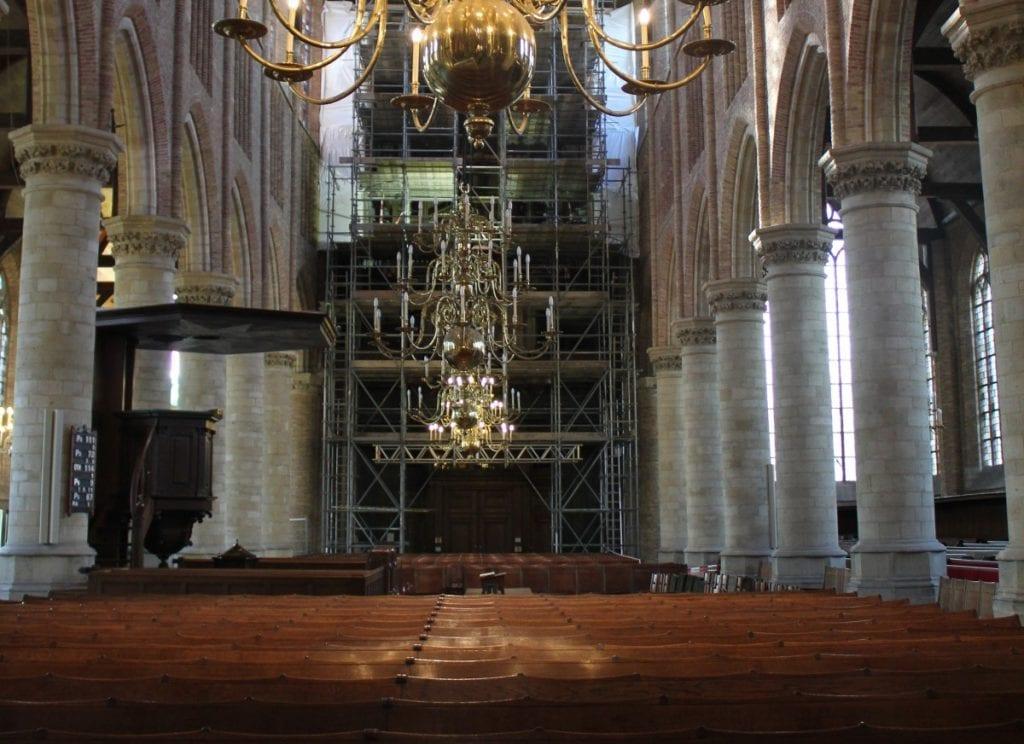 kerkbanken nieuwe kerk delft