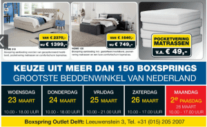 boxspring outlet