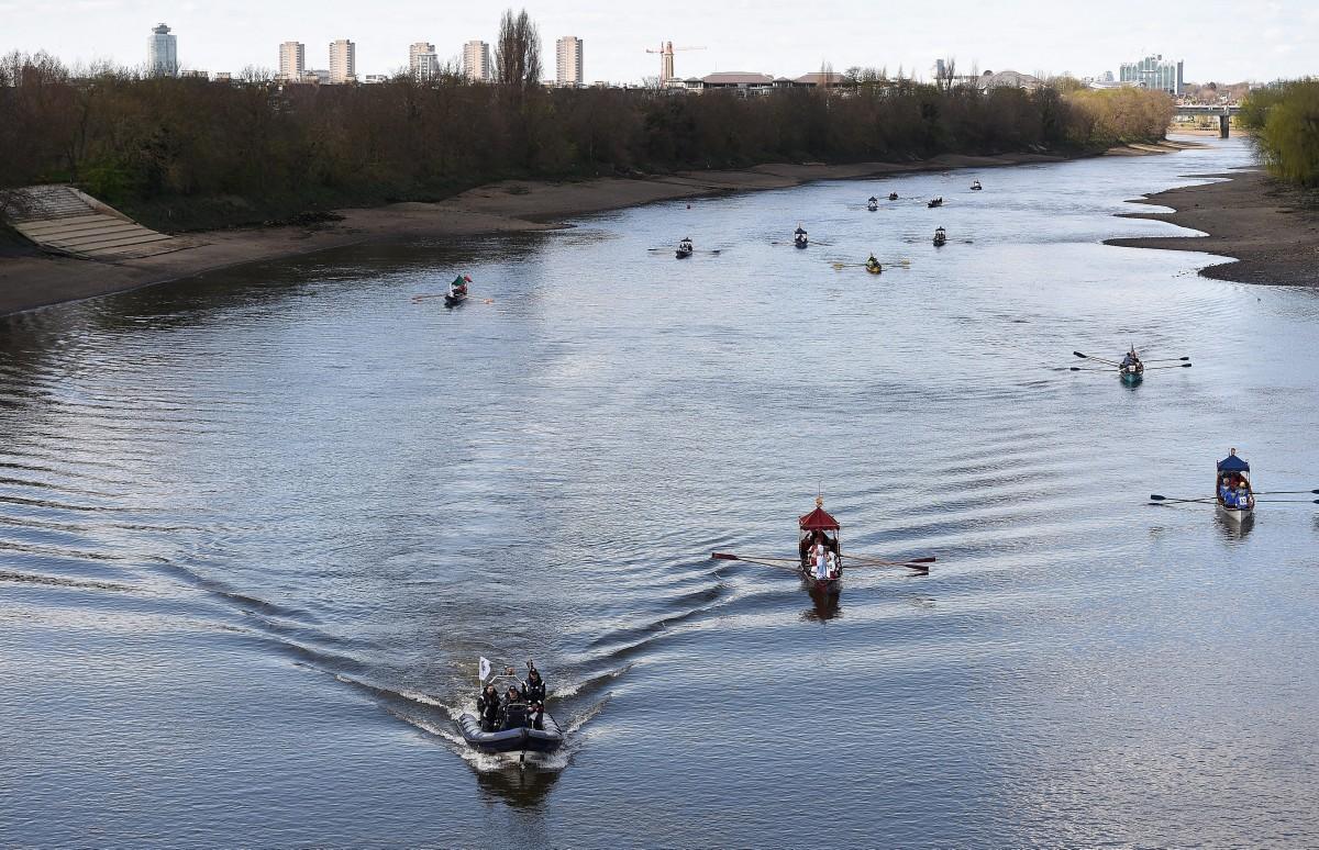 Cambridge Oxford roeiwedstrijd