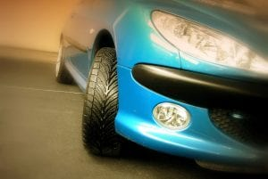 blauwe auto