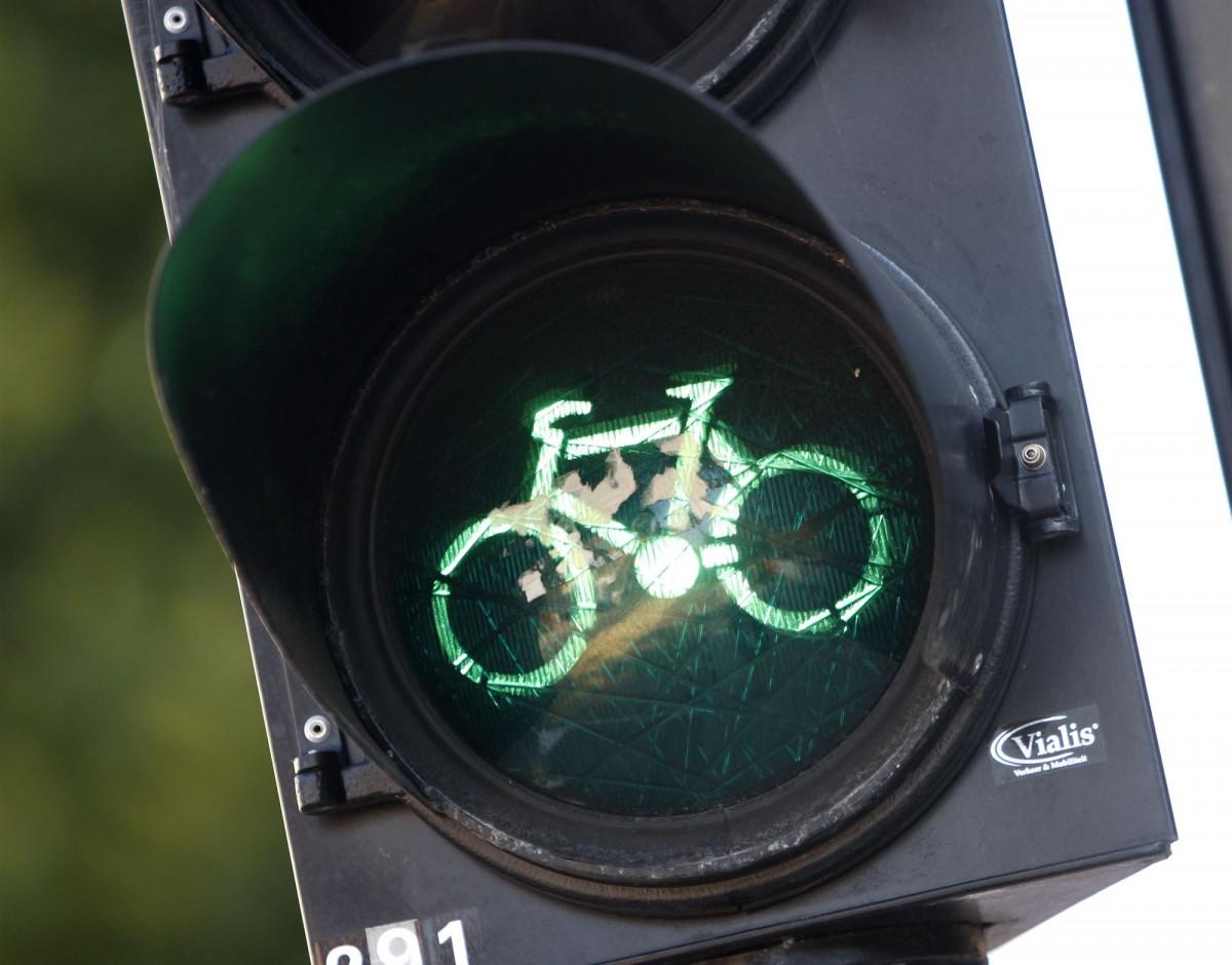 Fietsen fietspad Delft
