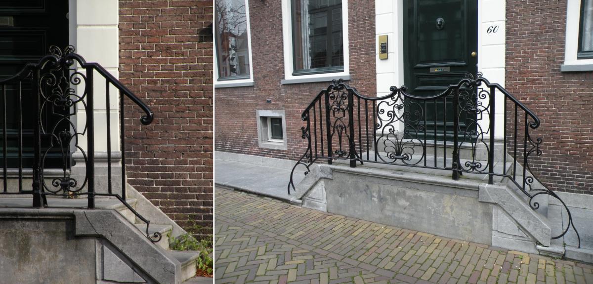Voorstraat 60 voor (links) en na (rechts)