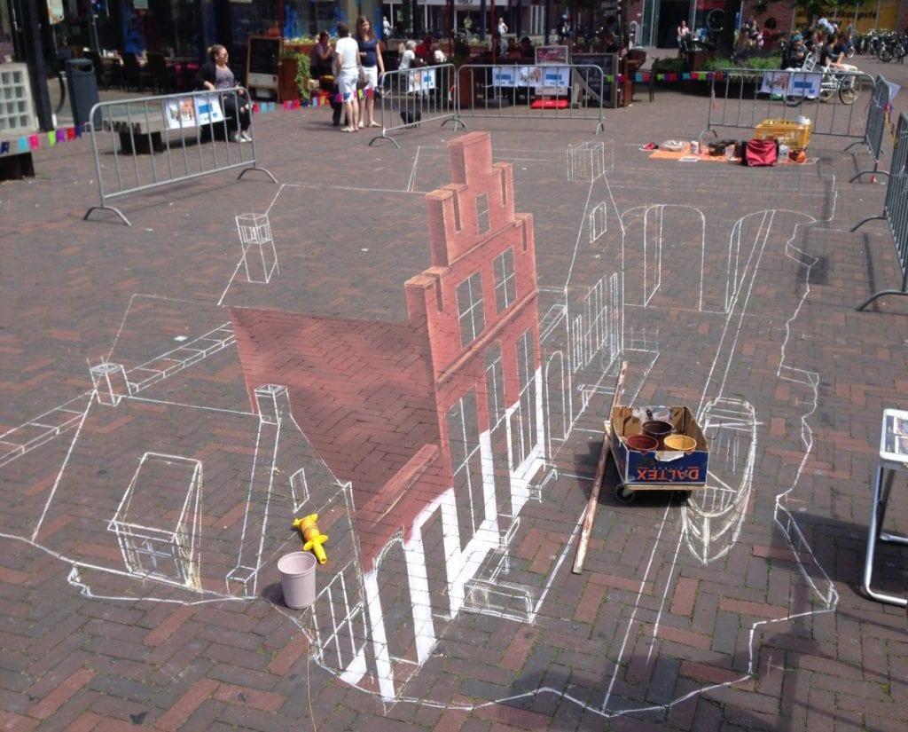 3D-painting 3D-tekening Bastiaansplein Delft