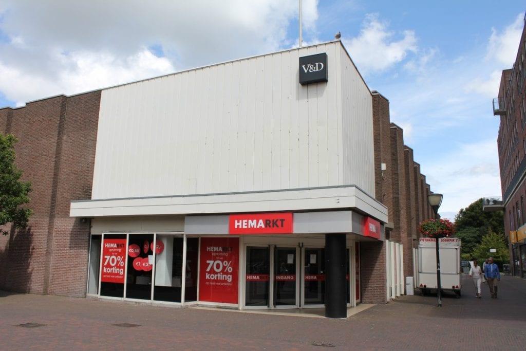 V&D pand Hemarkt hema outlet Delft V&D pand