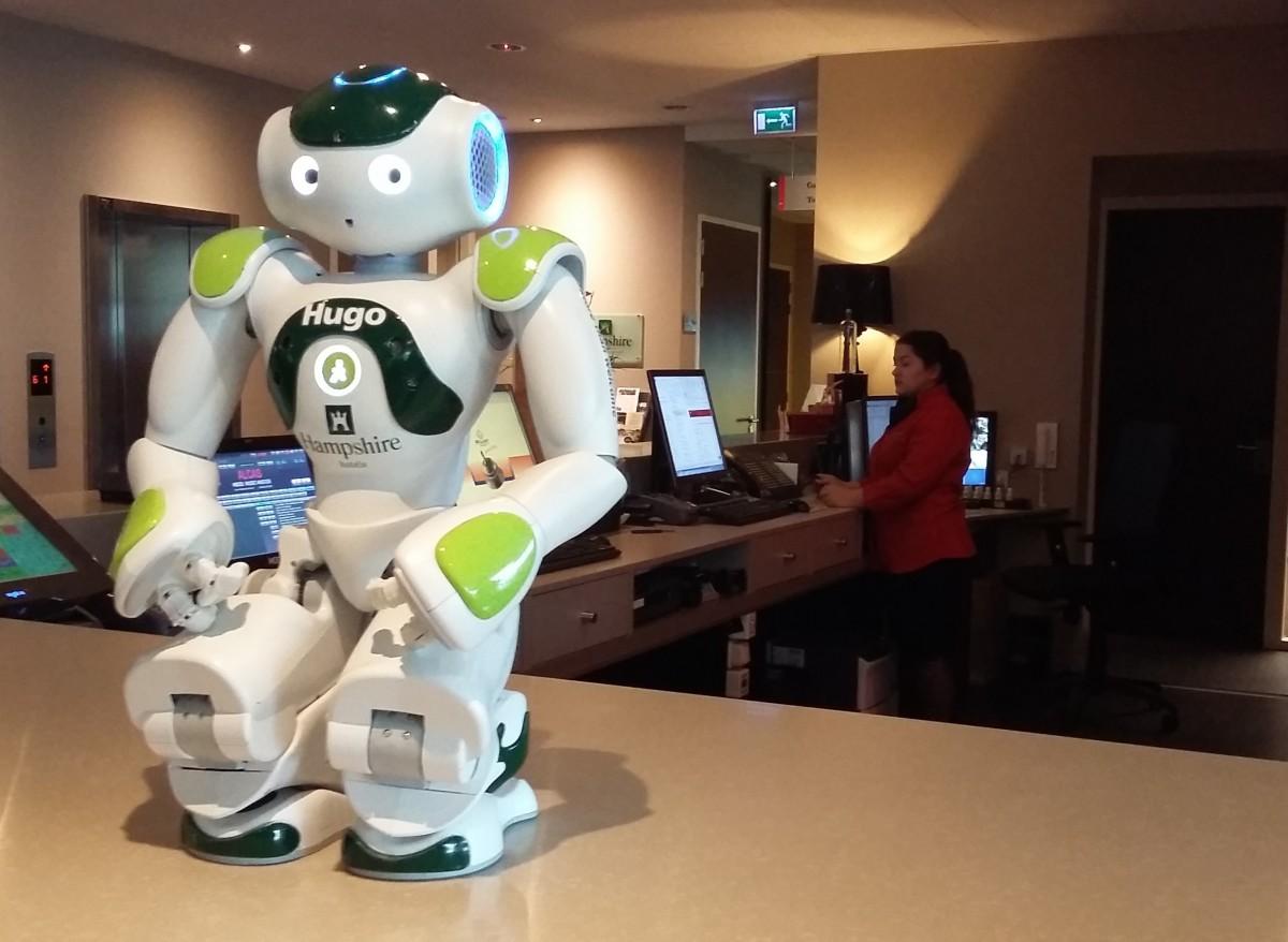 Hugo de robot Hampshire hotel Delft