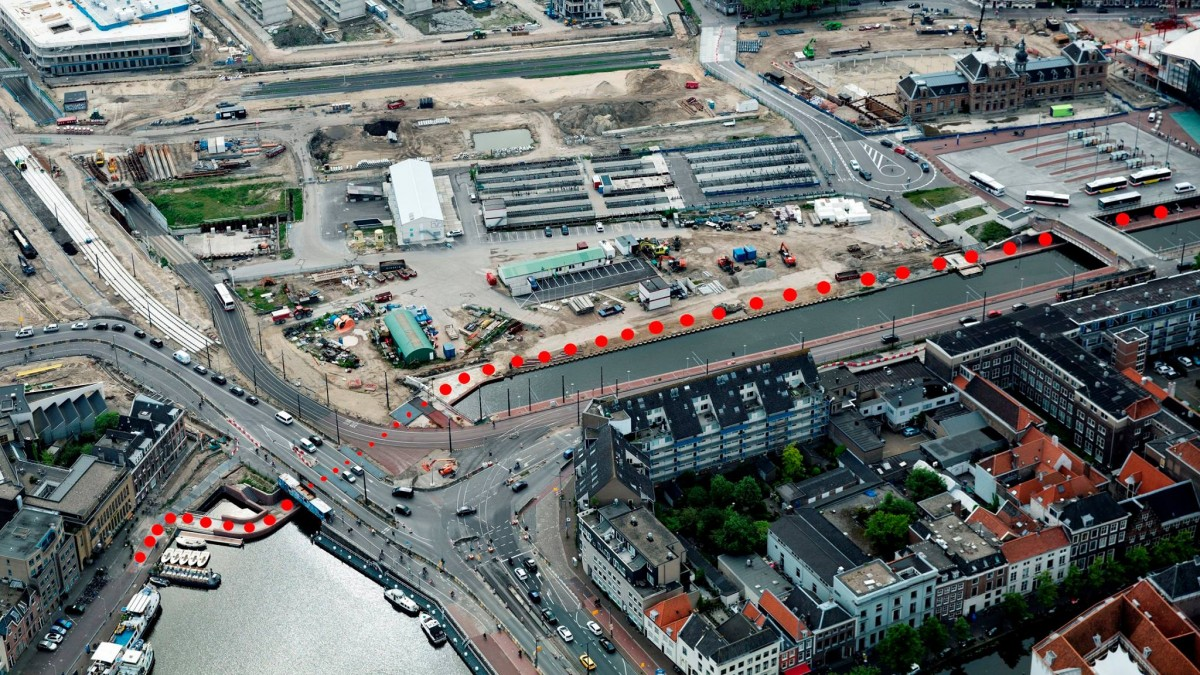Station Delft route
