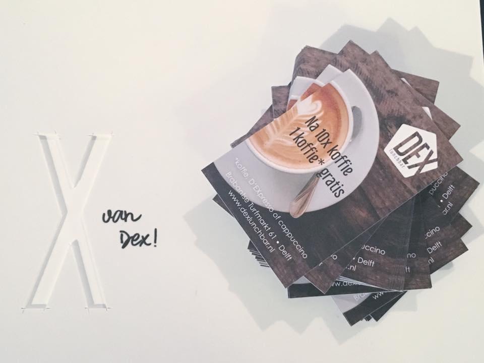 dex lunchbar koffie spaarkaart