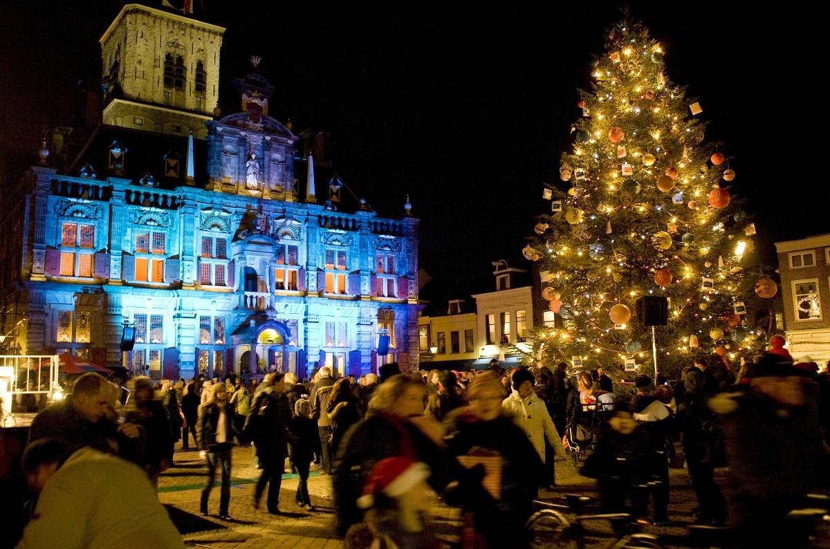 Lichtjesavond Delft Delft Winter Podium