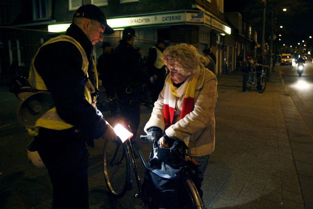 fiets licht controle boete