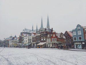 sneeuw delft