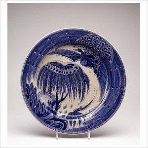Delfts blauw aziatische tekening