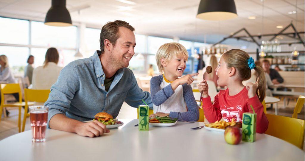 kinderen eten gratis