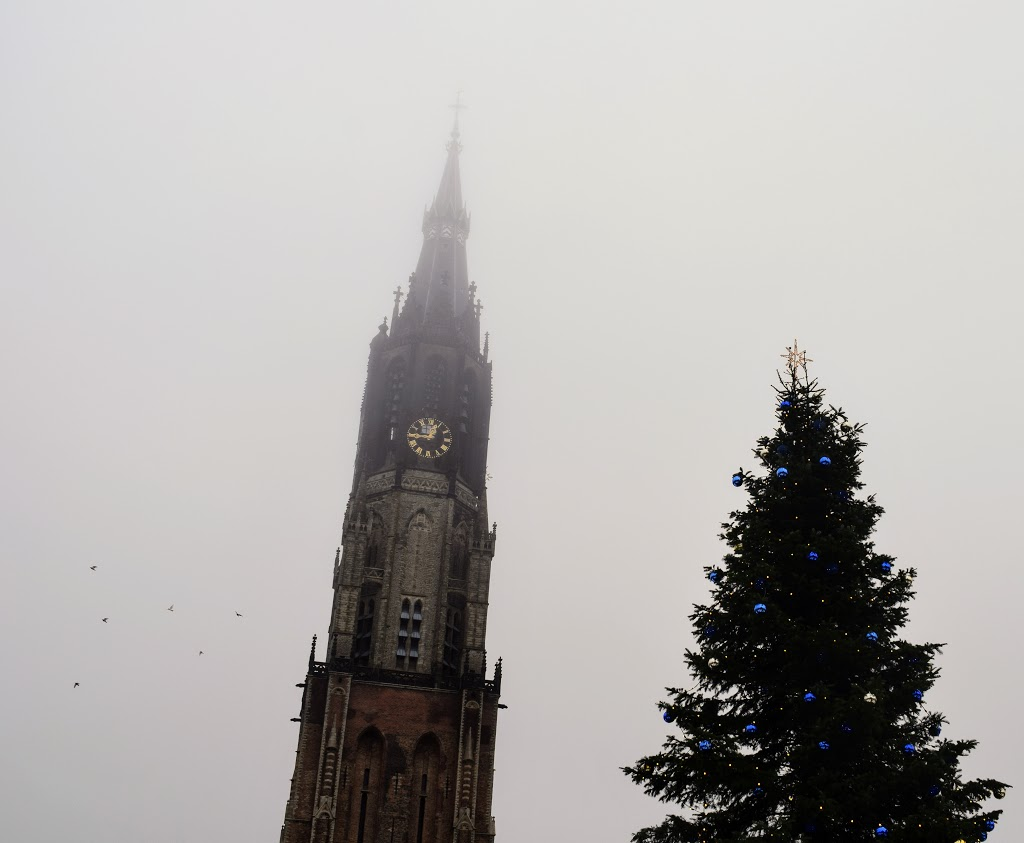 nieuwe kerk kerstboom lichtjesavond kerst