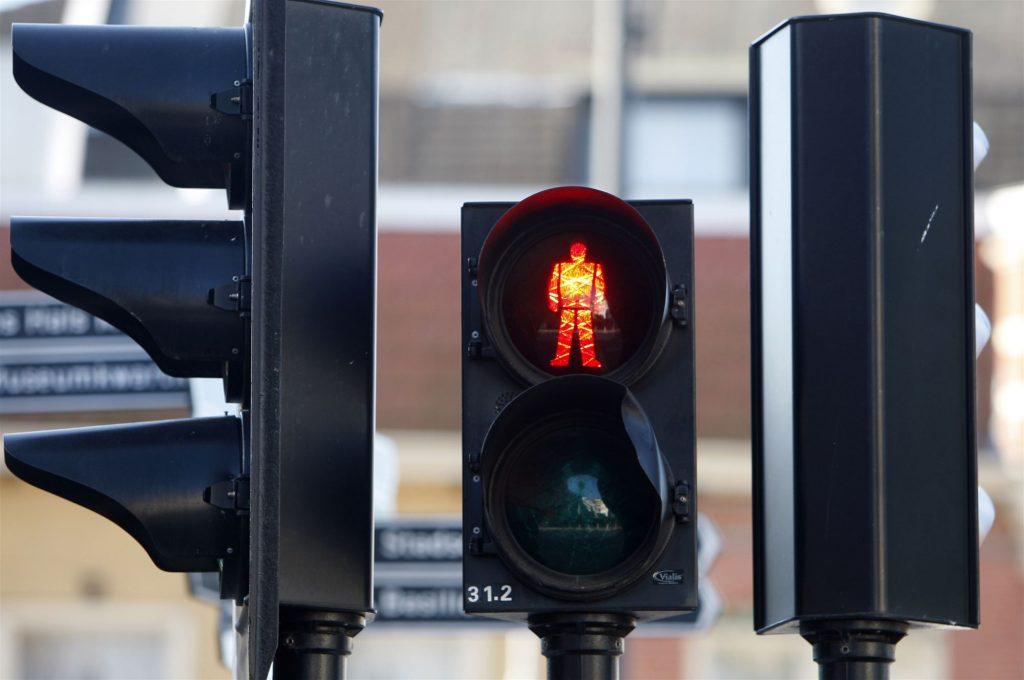 stoplicht rood voetgangers