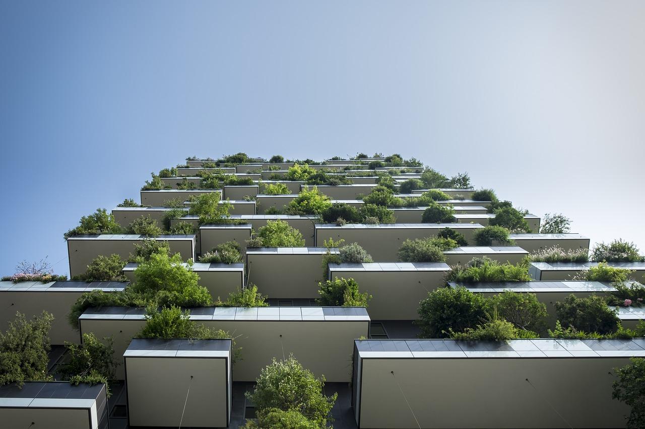 verticaal groen flat