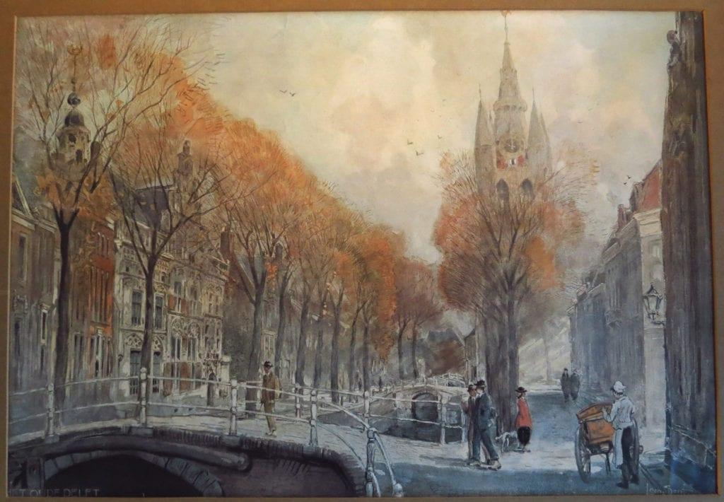 Schilderij Oude Delft