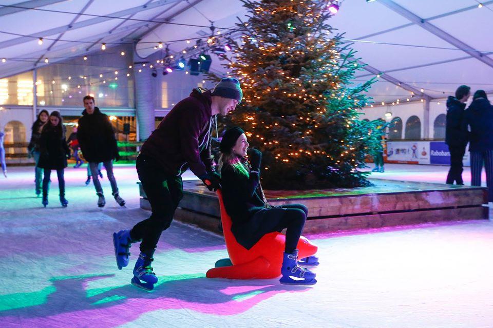 winters delft schaatsbaan