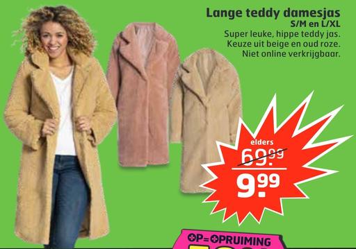 Trekpleister teddy jas aanbieding