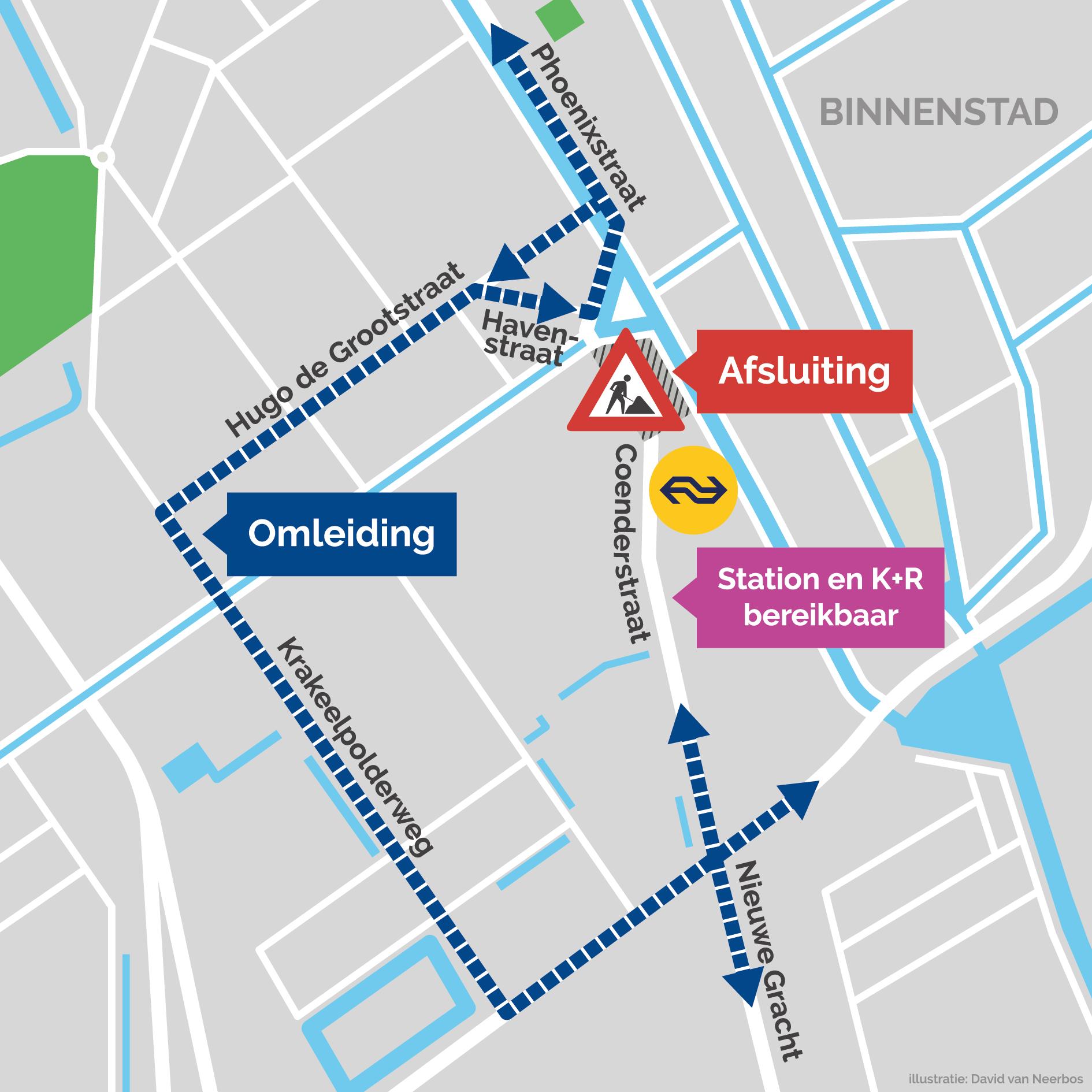 Omleiding Coenderstraat