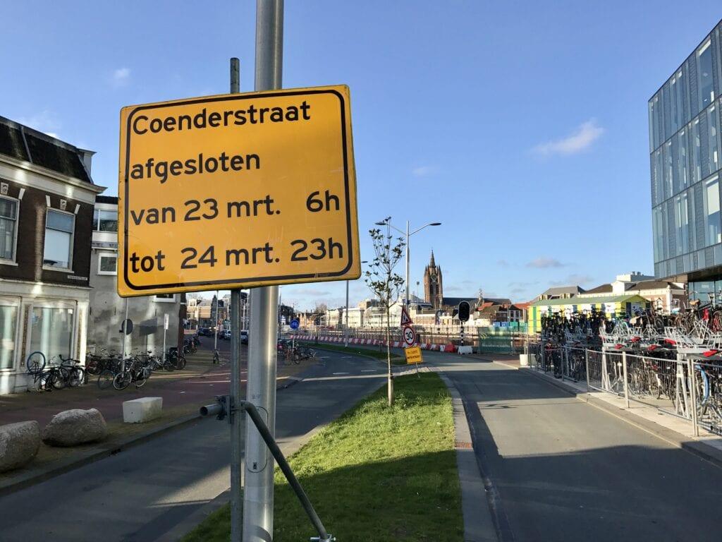 afsluiting Coenderstraat