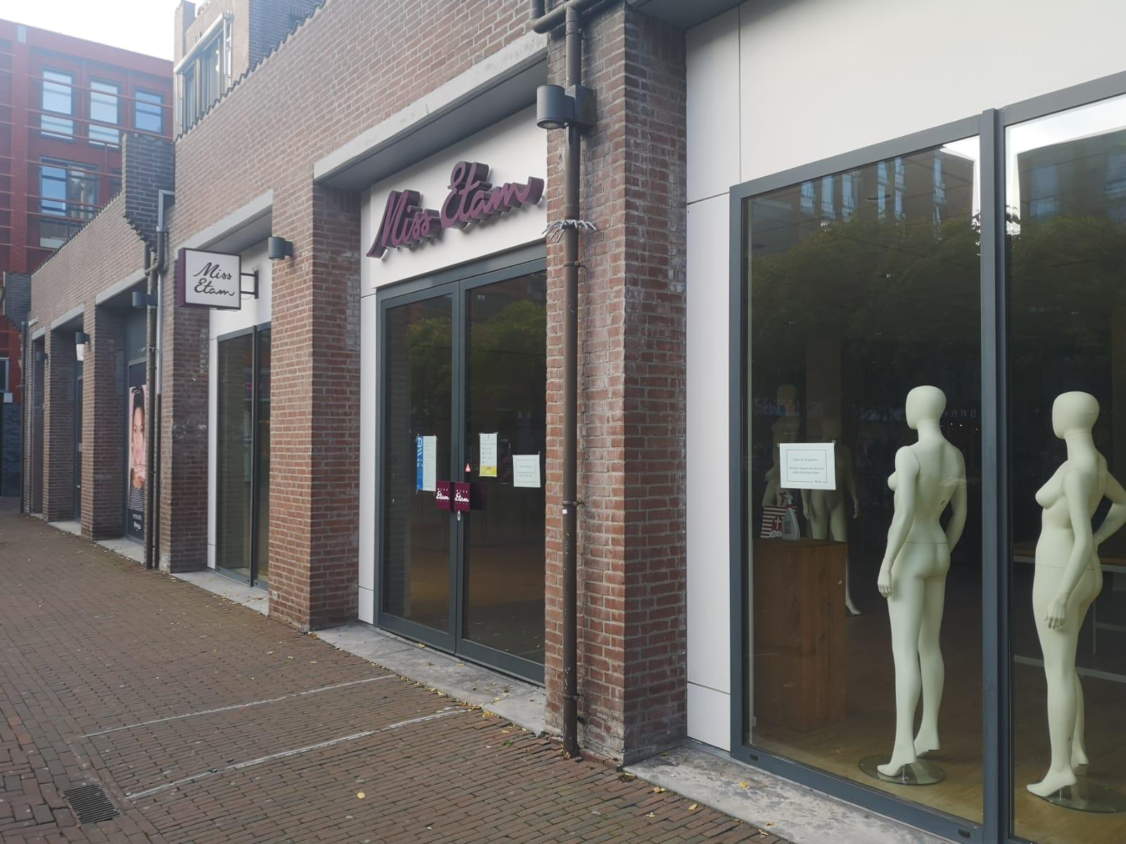 Miss Etam Bastiaansplein gesloten Zuidpoort
