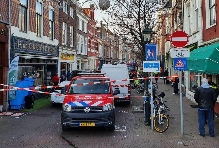 Choorstraat afgesloten brandweer politie gaslek