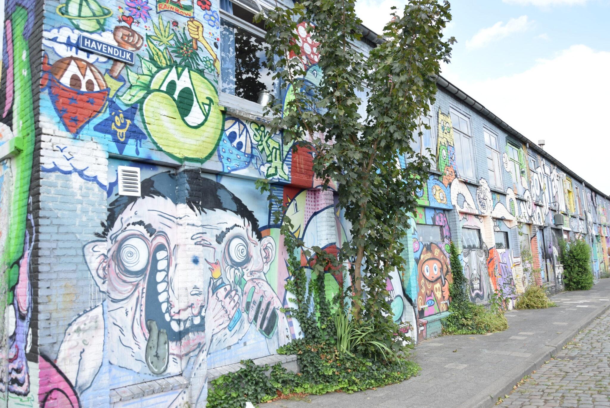 Havendijk in Den Bosch vol graffiti