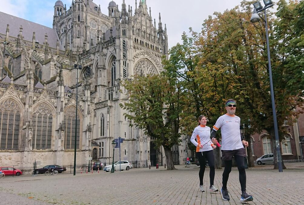 Gaby en Rick tijdens NN Running Day in Den Bosch