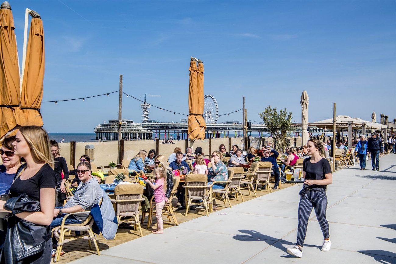 Mooi weer strand Scheveningen April 2018. Foto ANP