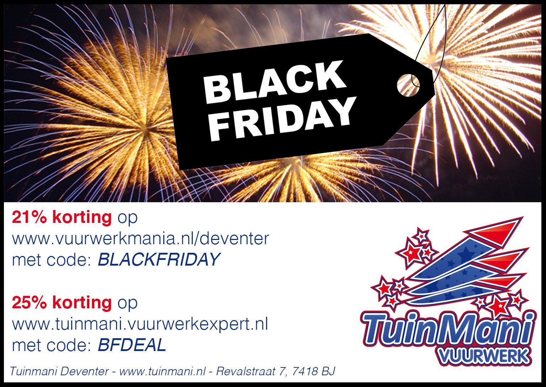 Black Friday Tuinmani vuurwerk
