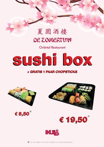 Aanbieding sushi De Zomertuin