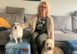 Marien met Ollie en Blitz foto eigen Marien voor Facebook