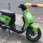 opgeladen deelscooter