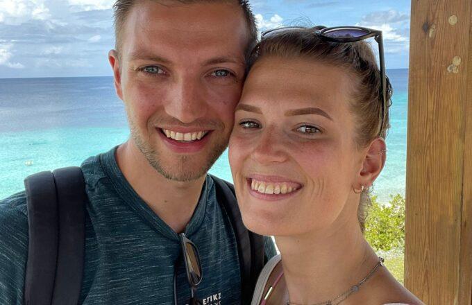 Lars en Claudia op Curaçao
