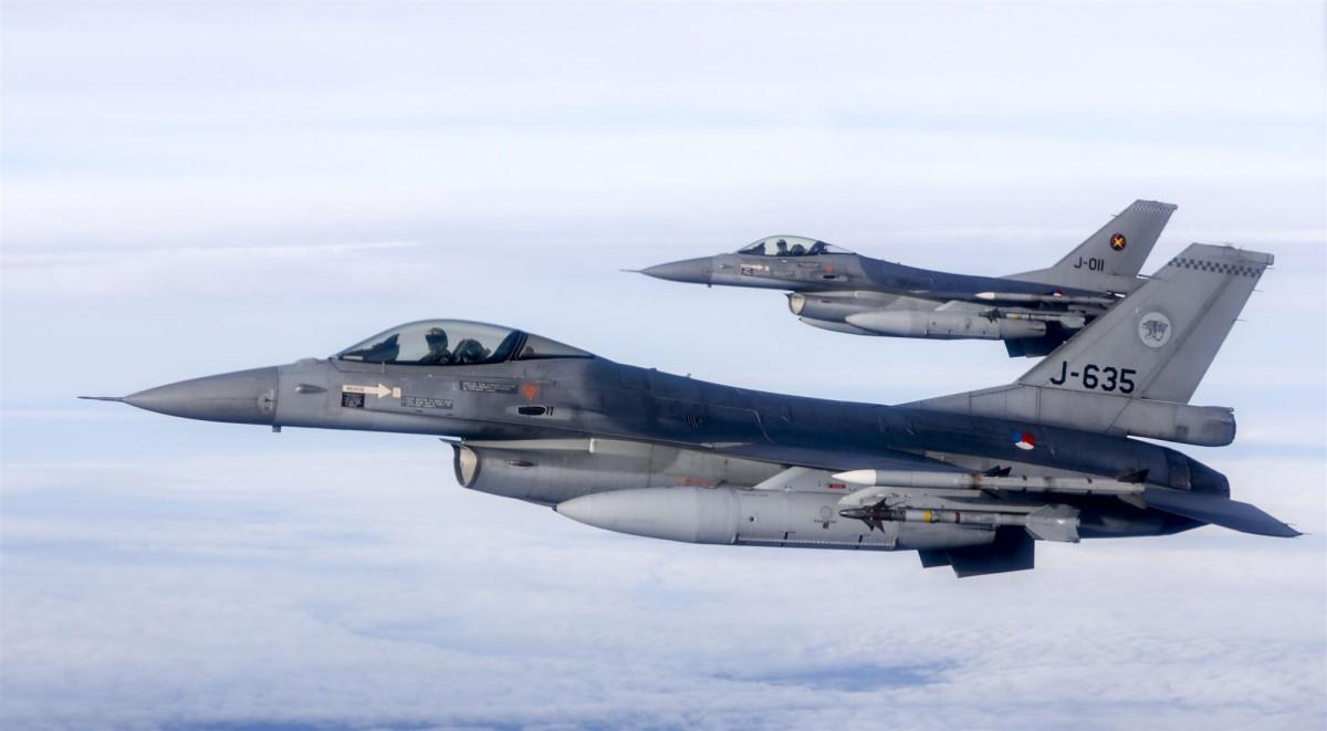 knal boven Dordrecht F-16