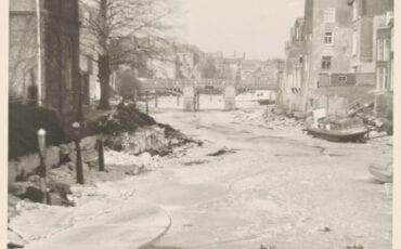 Winter 1963 ijs Wijnhaven dichtgevroren - Regionaal Archief Dordrecht